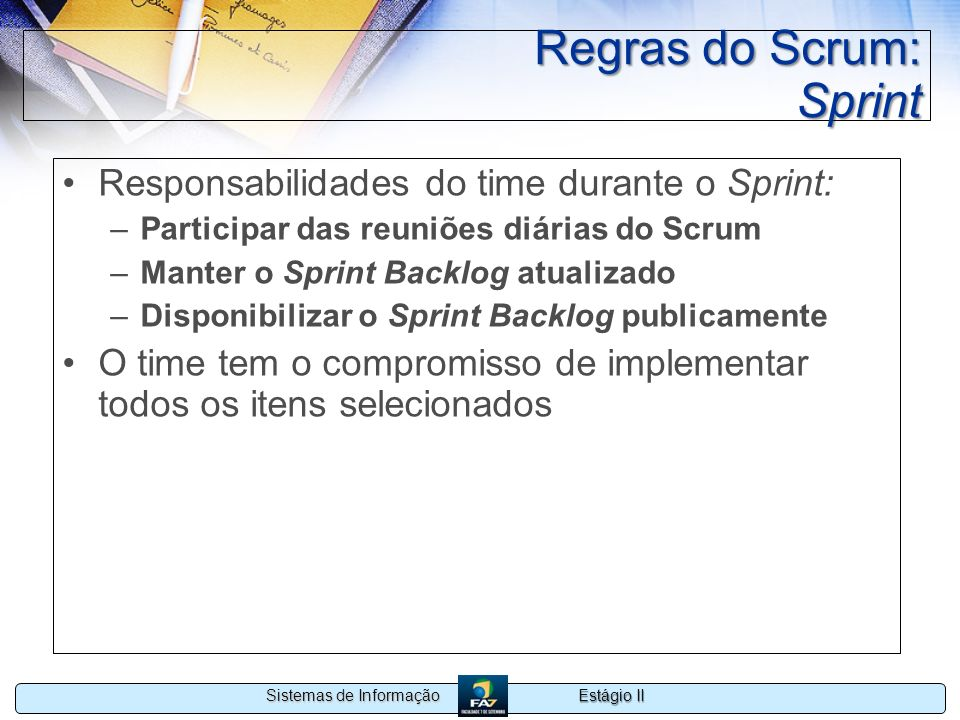 Regras do Scrum: Sprint