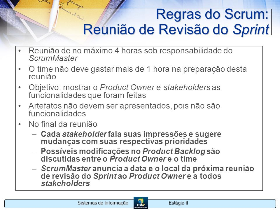 Regras do Scrum: Reunião de Revisão do Sprint