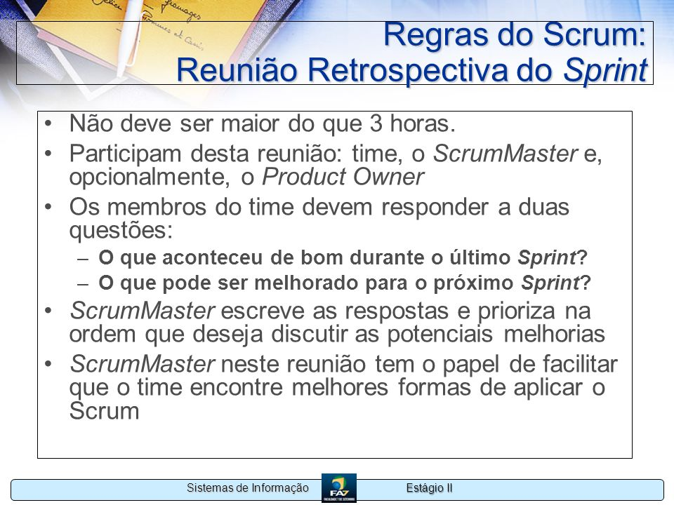 Regras do Scrum: Reunião Retrospectiva do Sprint