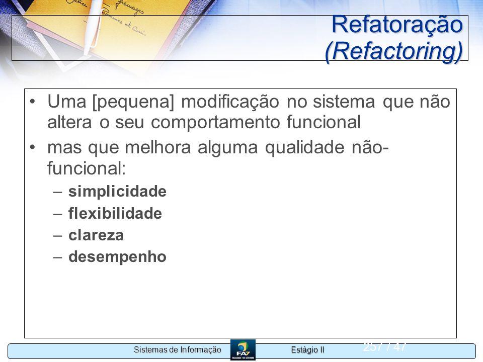 Refatoração (Refactoring)