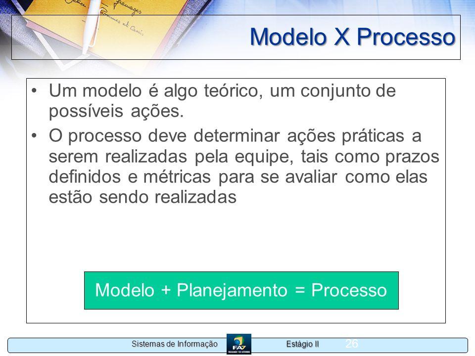 Modelo + Planejamento = Processo