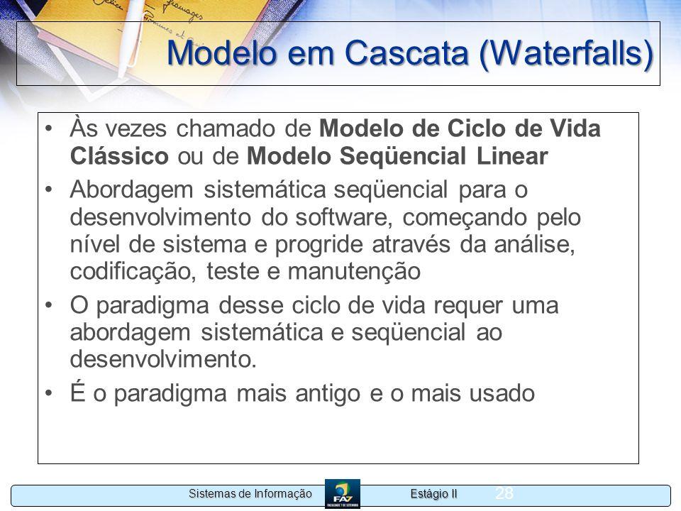 Modelo em Cascata (Waterfalls)