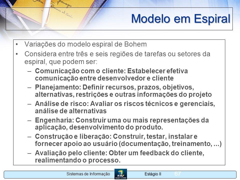 Modelo em Espiral Variações do modelo espiral de Bohem