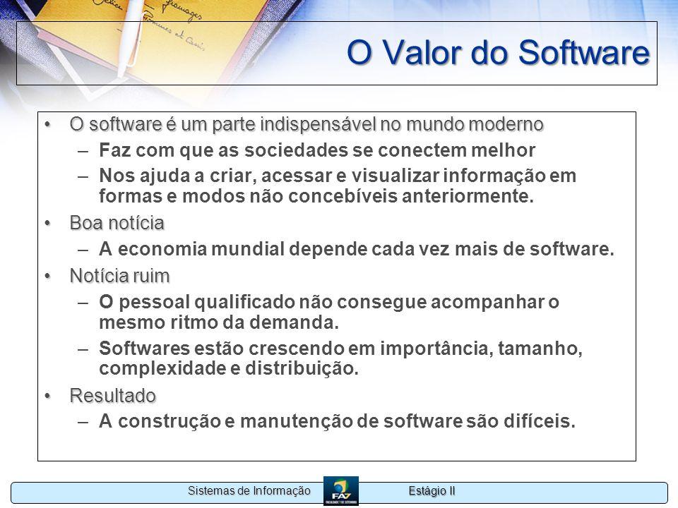 O Valor do Software O software é um parte indispensável no mundo moderno. Faz com que as sociedades se conectem melhor.