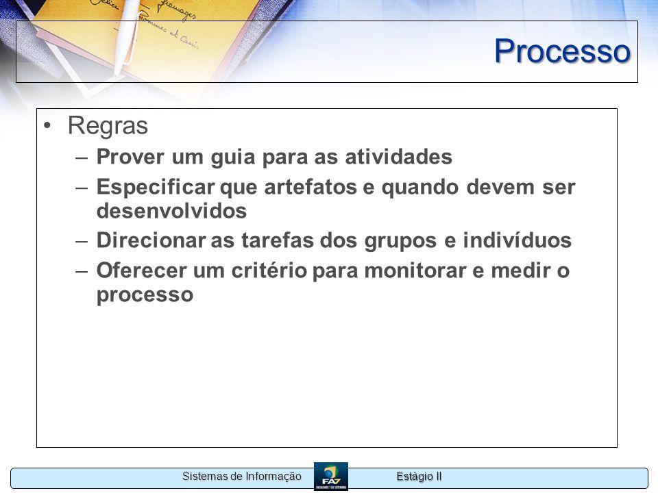 Processo Regras Prover um guia para as atividades