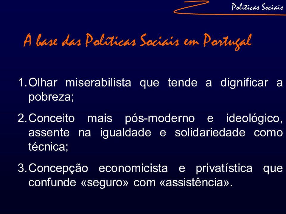 A base das Políticas Sociais em Portugal