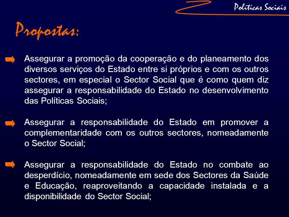 Propostas: Políticas Sociais