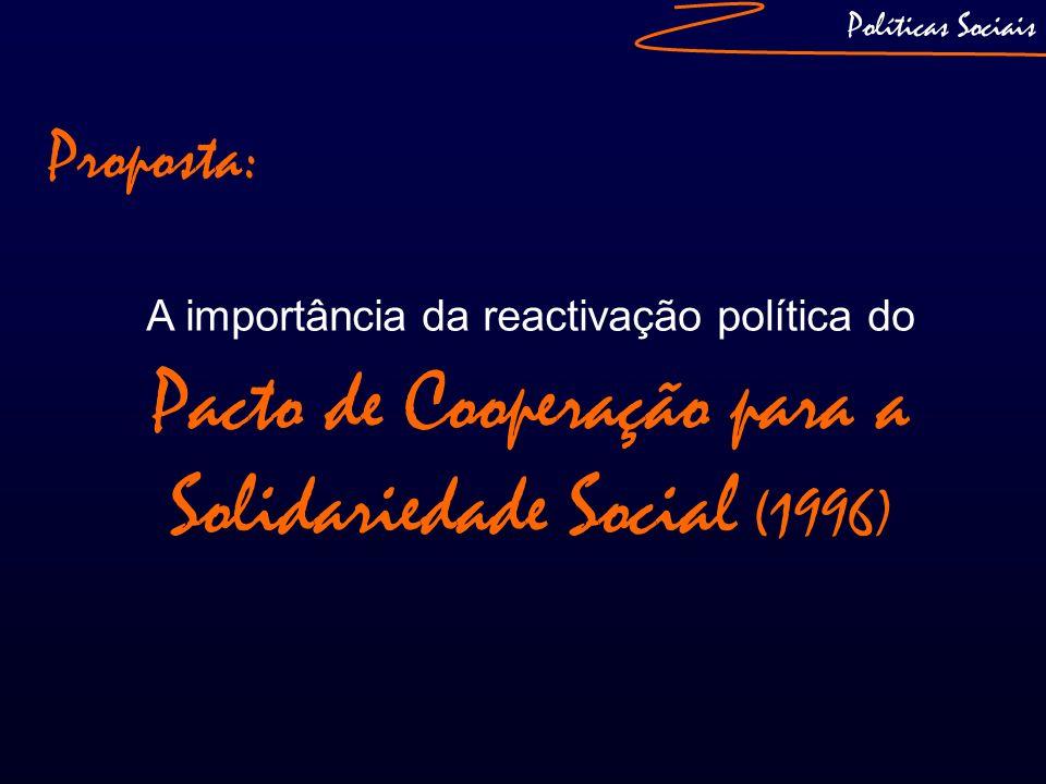 Políticas Sociais Proposta: A importância da reactivação política do Pacto de Cooperação para a Solidariedade Social (1996)