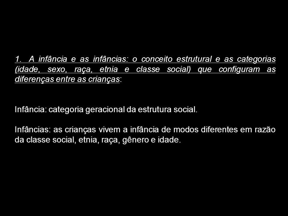 Infância: categoria geracional da estrutura social.