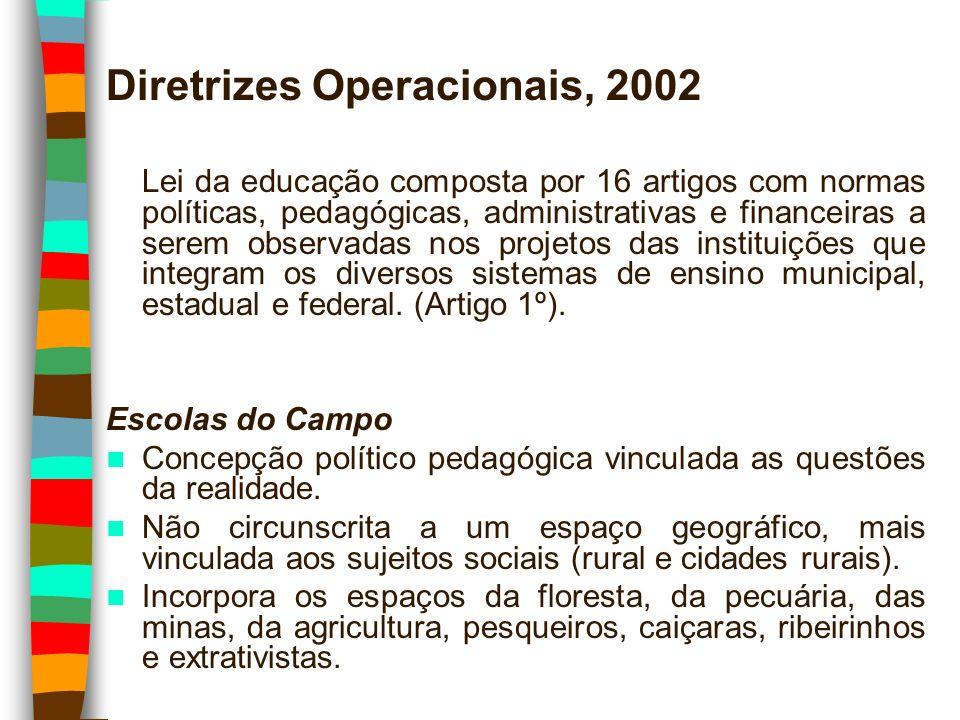 Diretrizes Operacionais, 2002