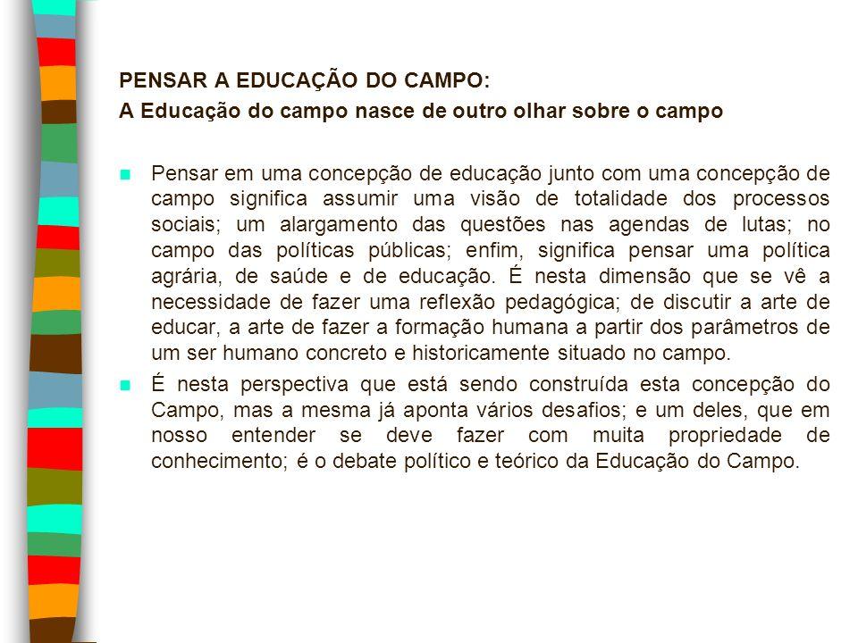 PENSAR A EDUCAÇÃO DO CAMPO: