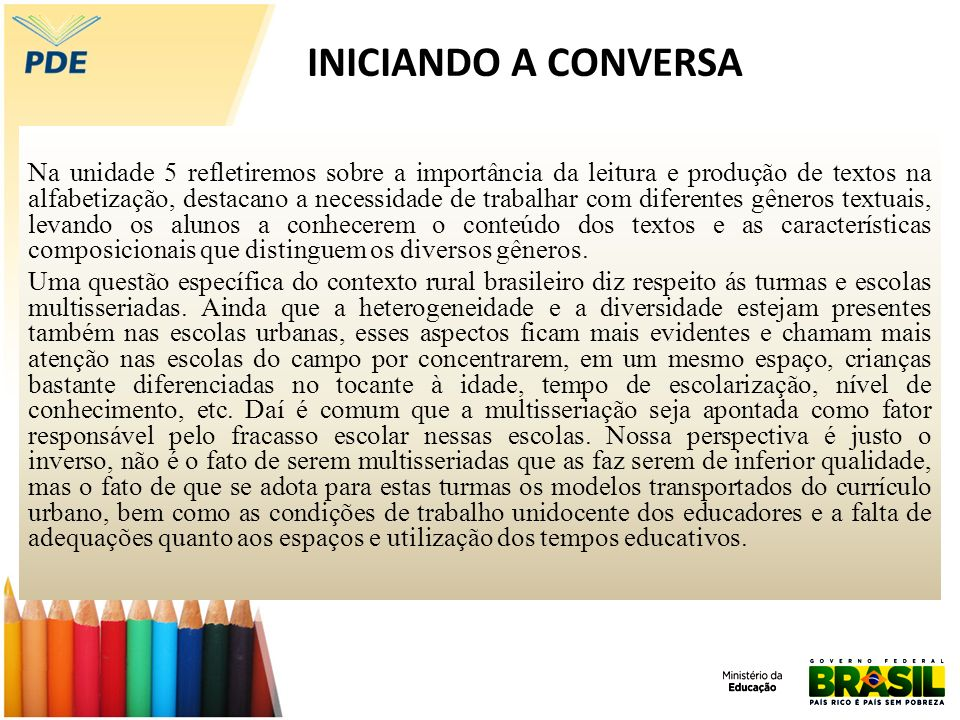 INICIANDO A CONVERSA