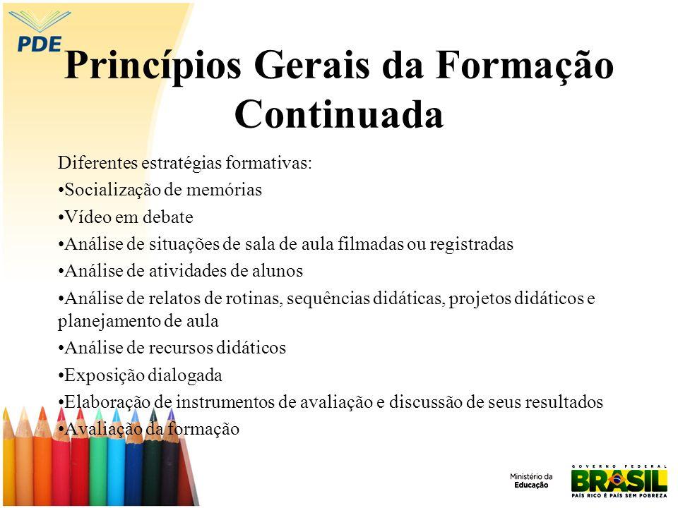 Princípios Gerais da Formação Continuada