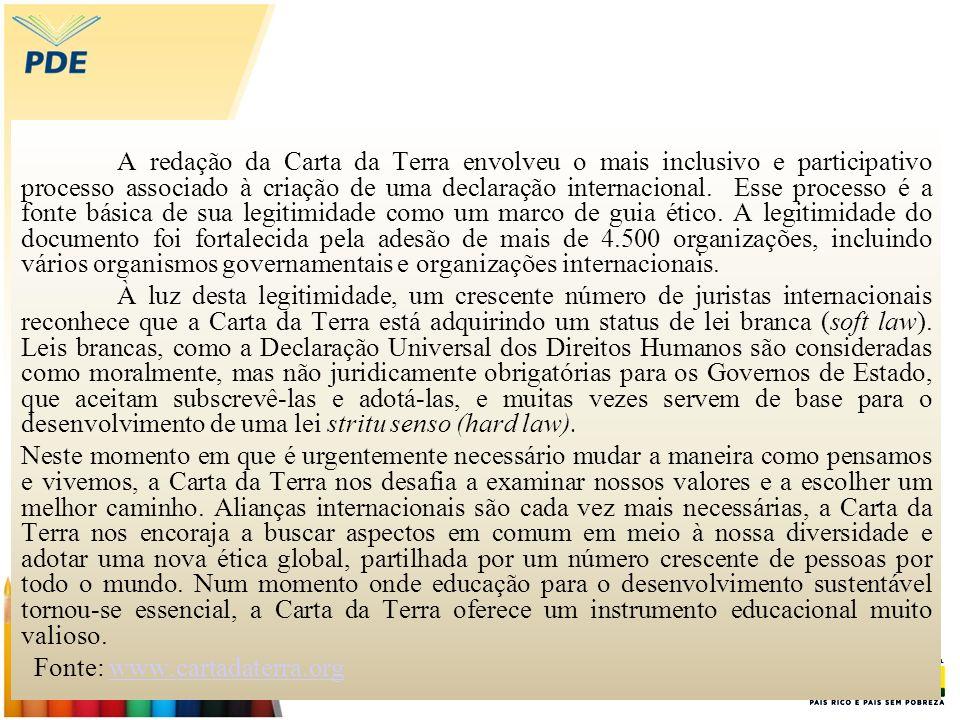 Fonte: www.cartadaterra.org