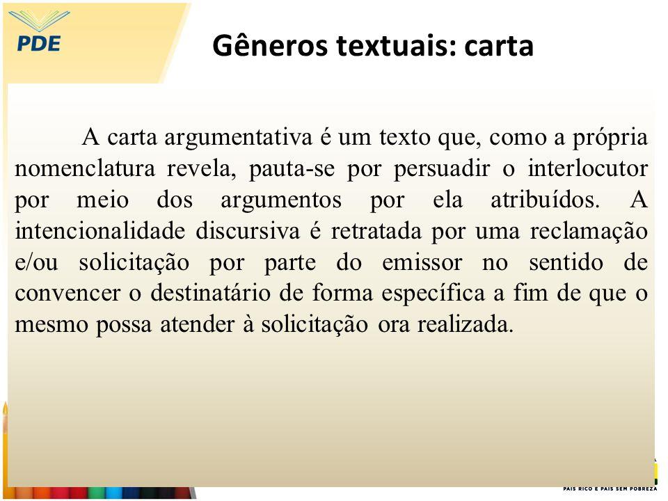 Gêneros textuais: carta