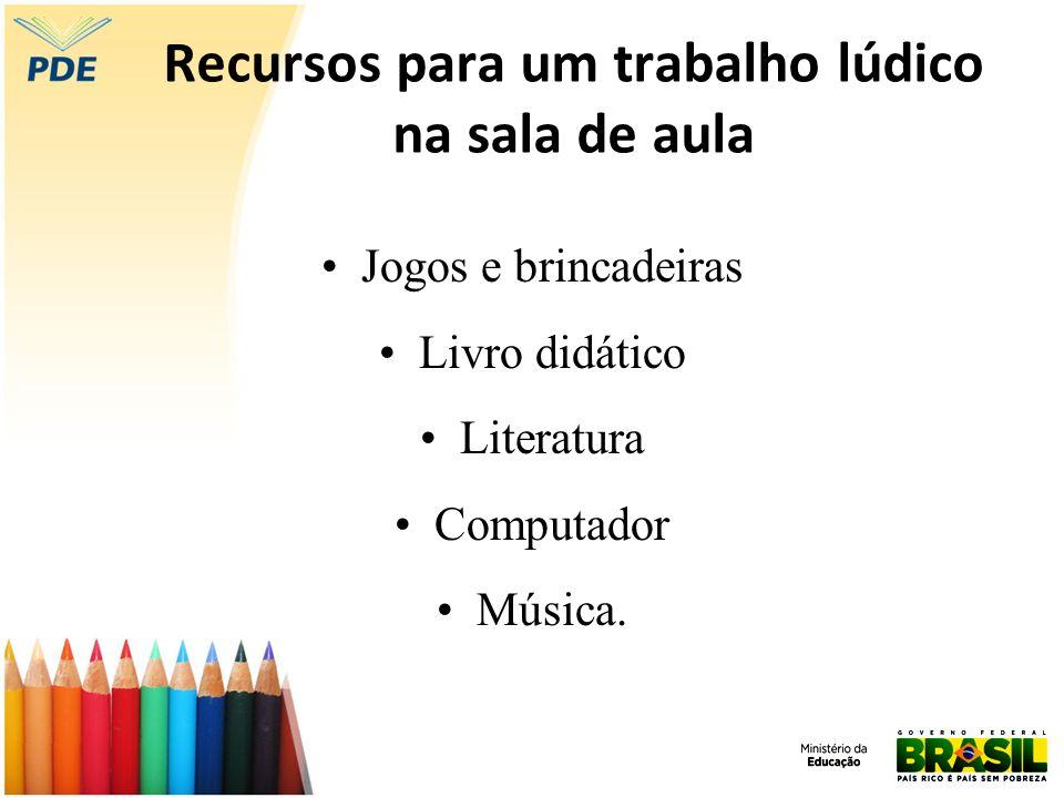 Recursos para um trabalho lúdico na sala de aula