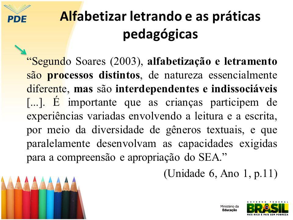 Alfabetizar letrando e as práticas pedagógicas