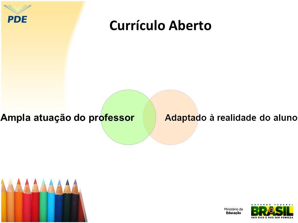 Adaptado à realidade do aluno Ampla atuação do professor