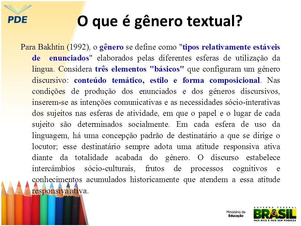 O que é gênero textual