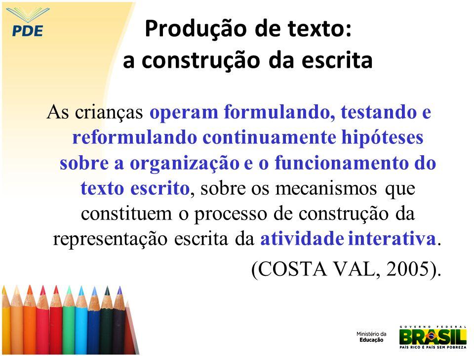 Produção de texto: a construção da escrita