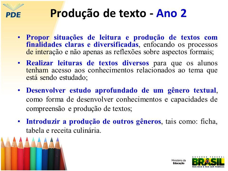 Produção de texto - Ano 2