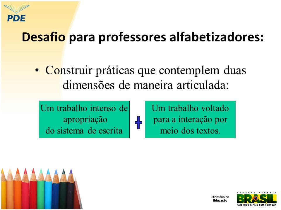 Desafio para professores alfabetizadores: