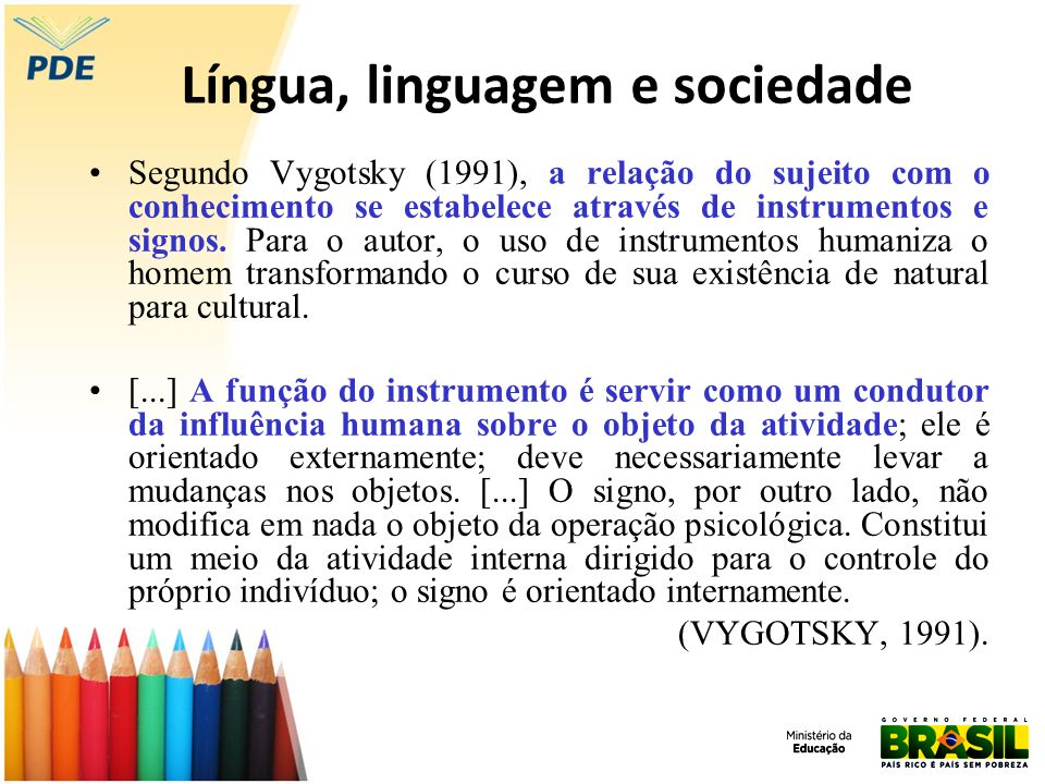 Língua, linguagem e sociedade