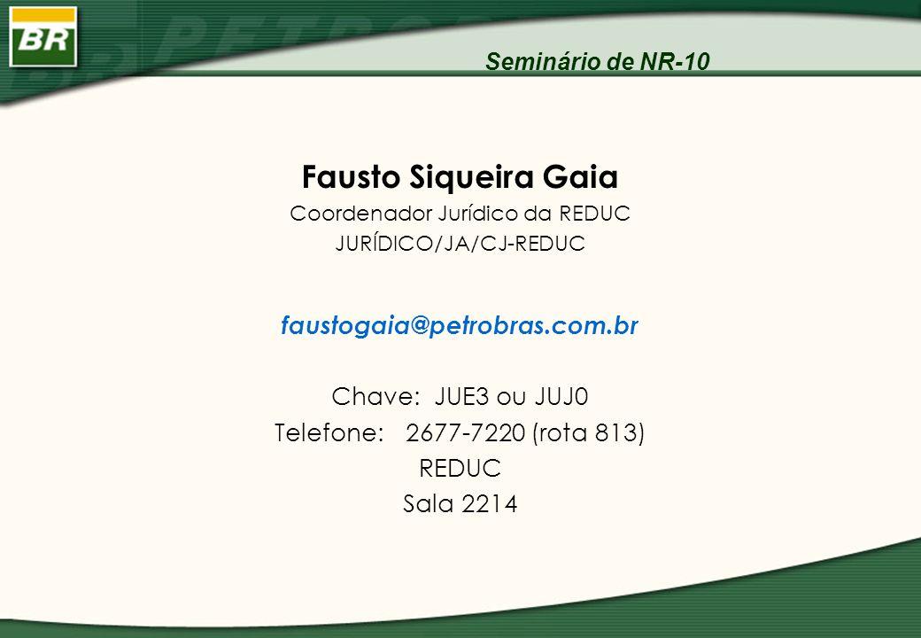 Fausto Siqueira Gaia faustogaia@petrobras.com.br Chave: JUE3 ou JUJ0