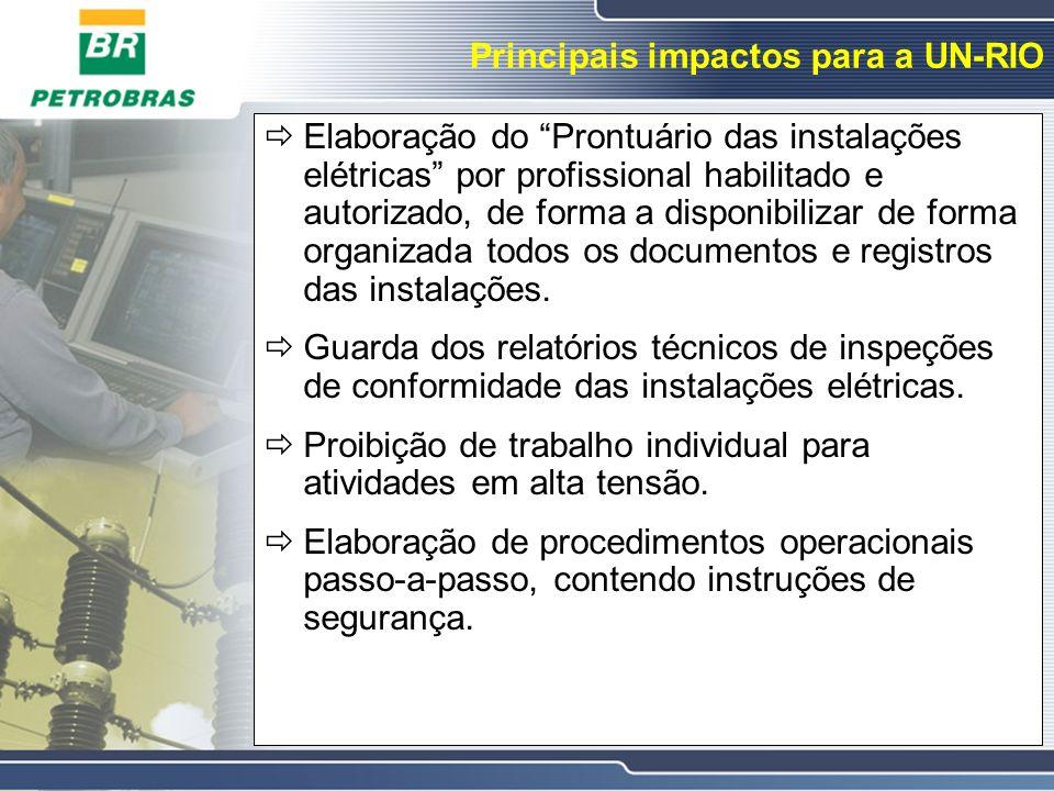 Principais impactos para a UN-RIO