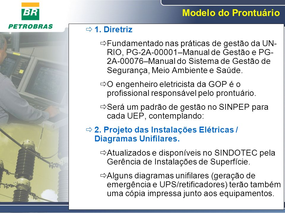 Modelo do Prontuário 1. Diretriz