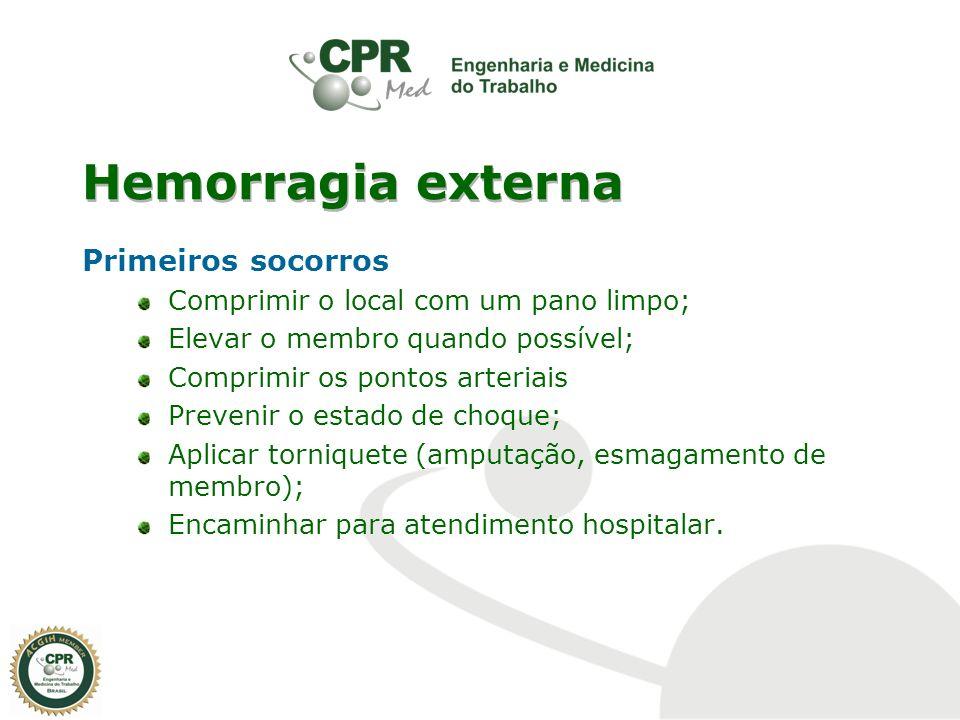 Hemorragia externa Primeiros socorros