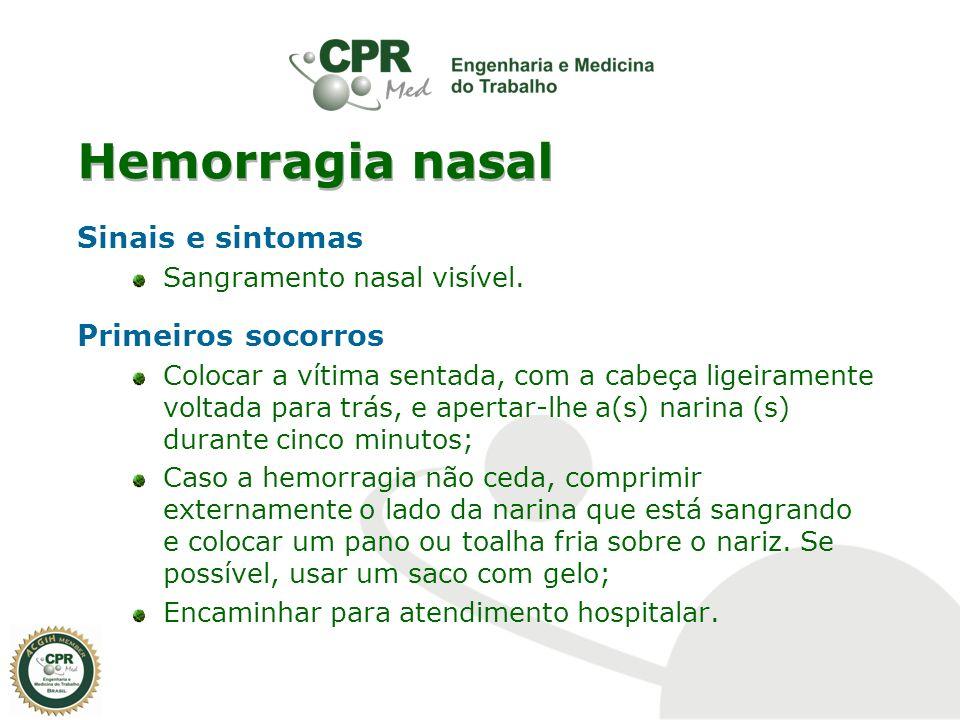 Hemorragia nasal Sinais e sintomas Primeiros socorros