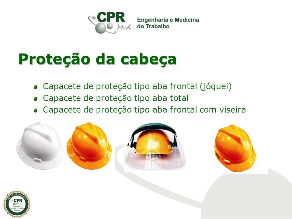 Proteção da cabeça Capacete de proteção tipo aba frontal (jóquei)
