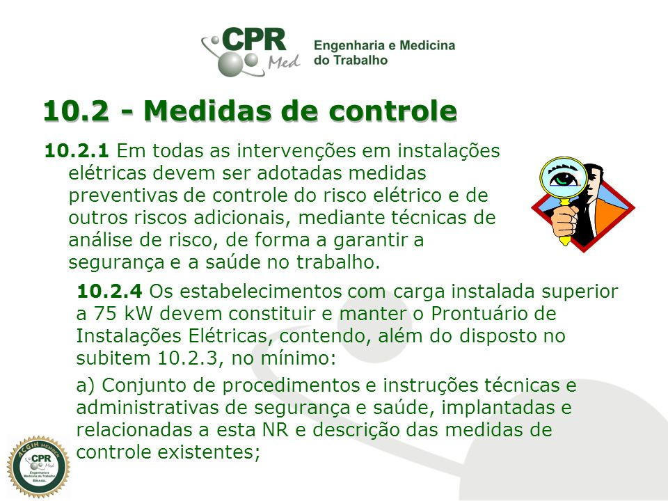 10.2 - Medidas de controle