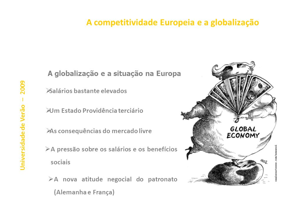 A competitividade Europeia e a globalização