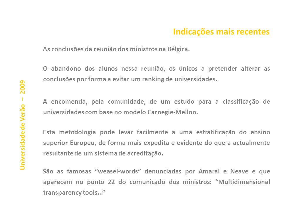 Universidade de Verão – 2009