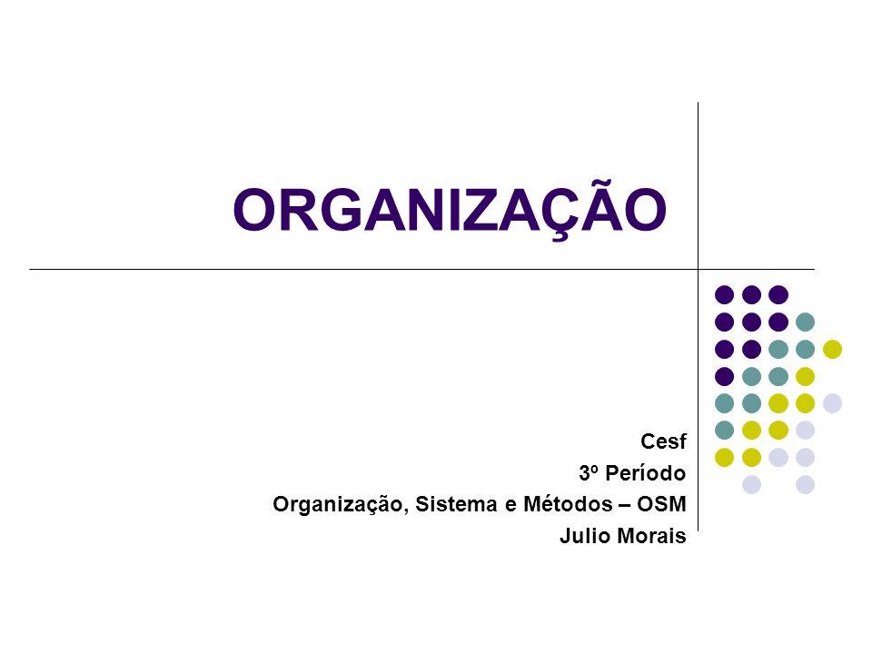 Cesf 3º Período Organização, Sistema e Métodos – OSM Julio Morais