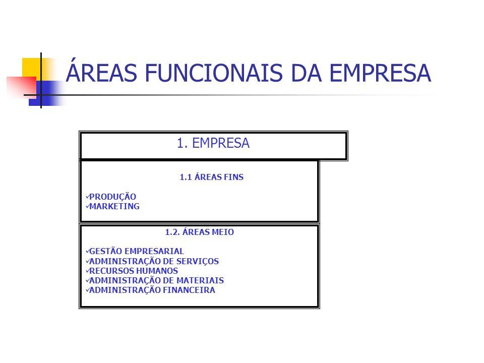 ÁREAS FUNCIONAIS DA EMPRESA
