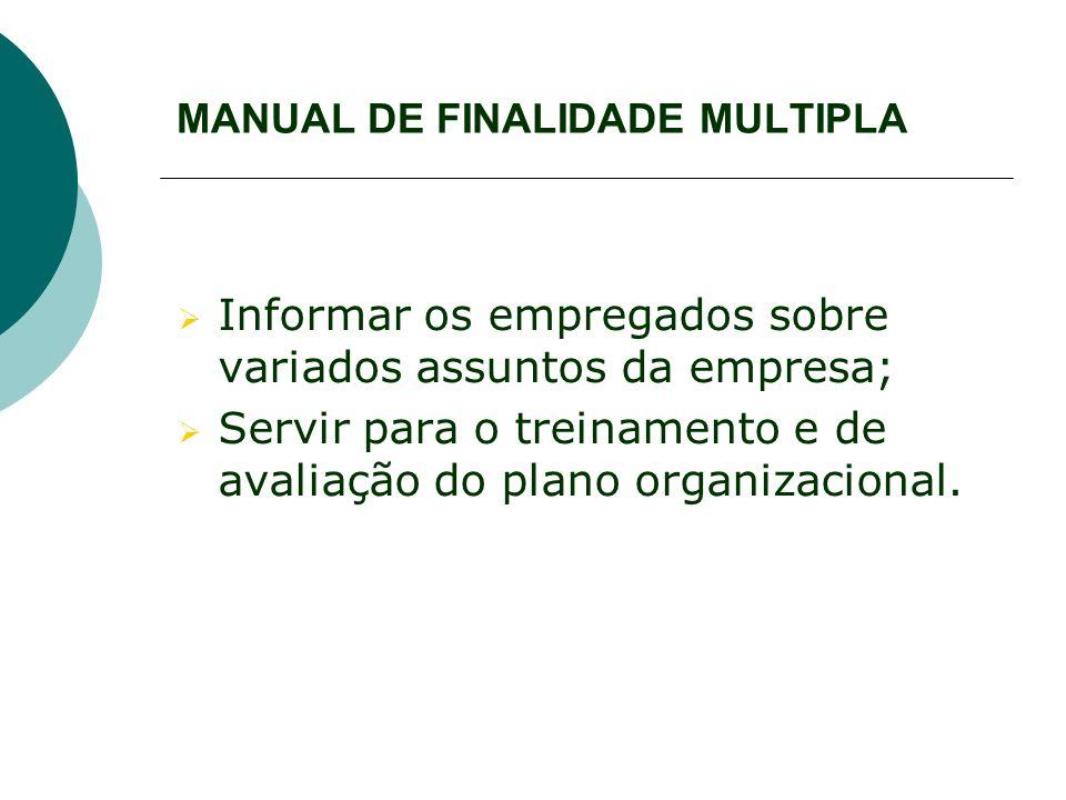 MANUAL DE FINALIDADE MULTIPLA