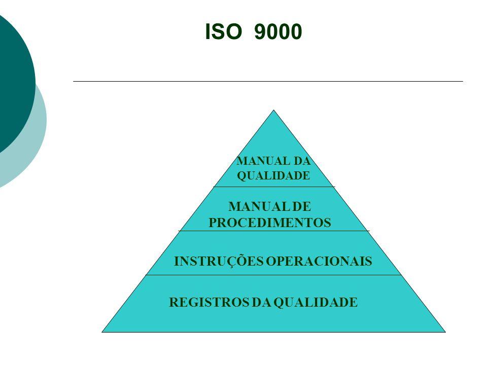 MANUAL DE PROCEDIMENTOS INSTRUÇÕES OPERACIONAIS REGISTROS DA QUALIDADE