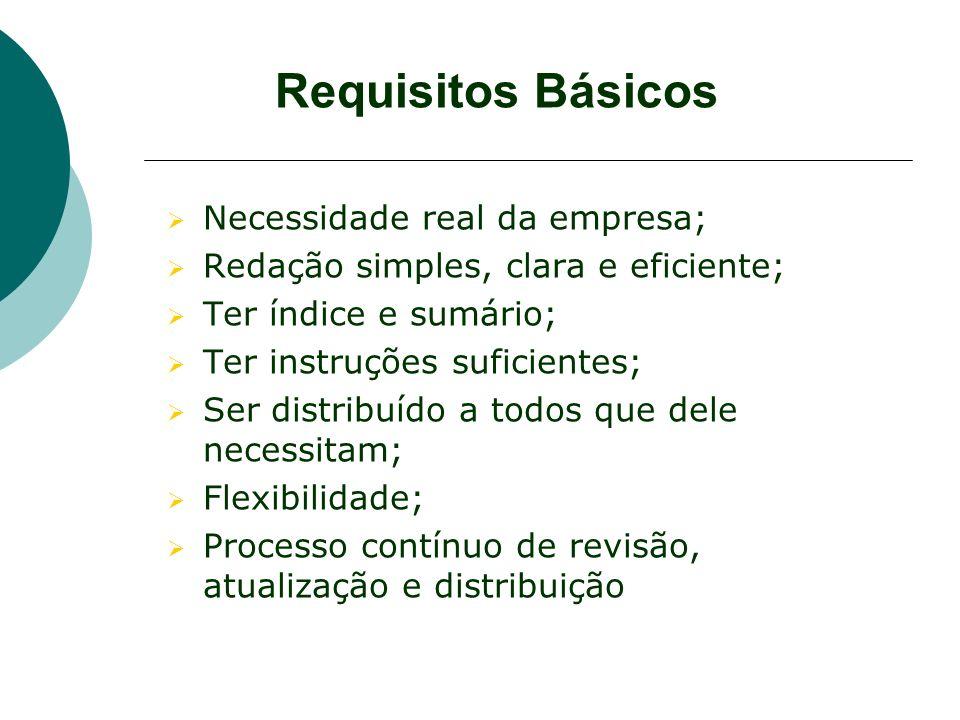 Requisitos Básicos Necessidade real da empresa;