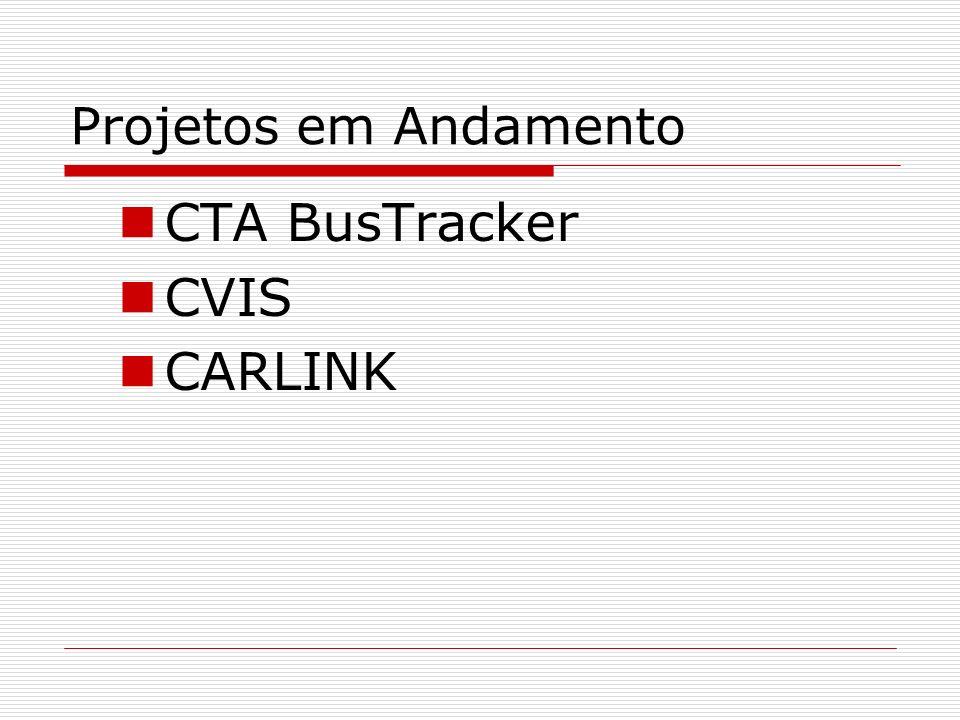 Projetos em Andamento CTA BusTracker CVIS CARLINK