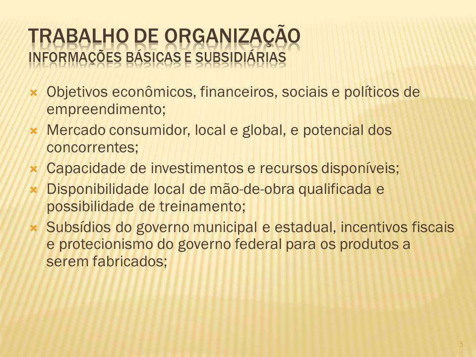 Trabalho de Organização Informações Básicas e Subsidiárias