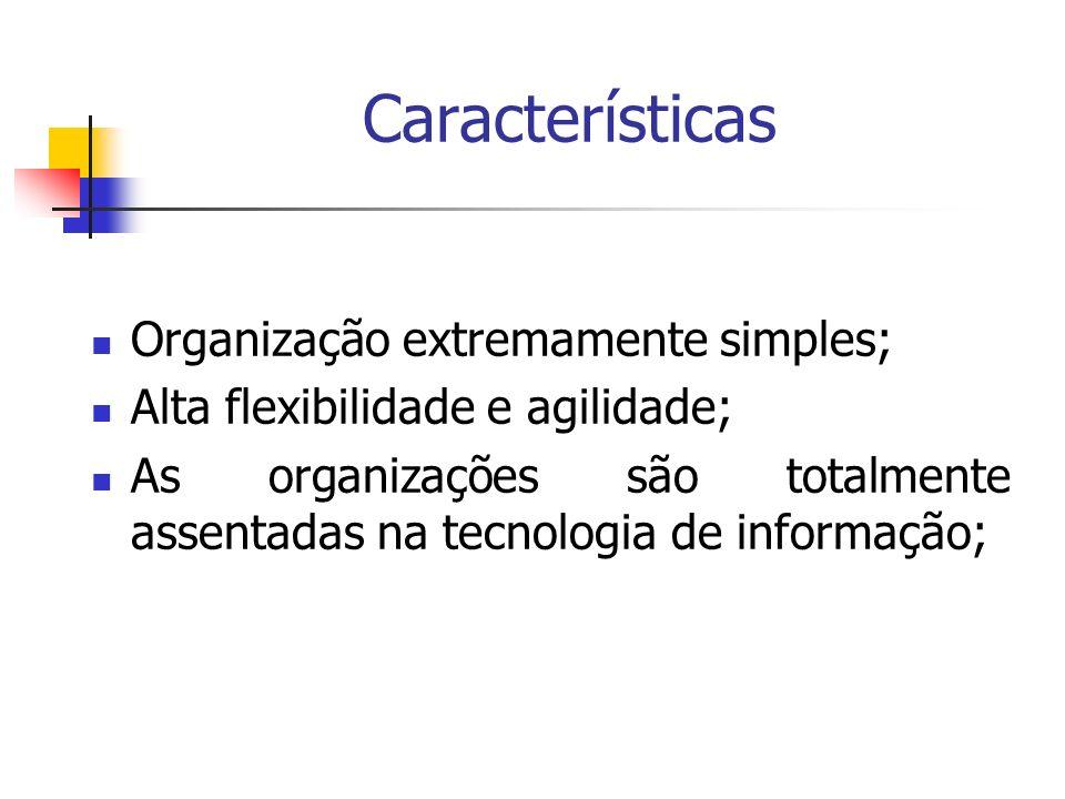 Características Organização extremamente simples;