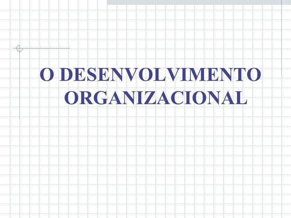 O DESENVOLVIMENTO ORGANIZACIONAL