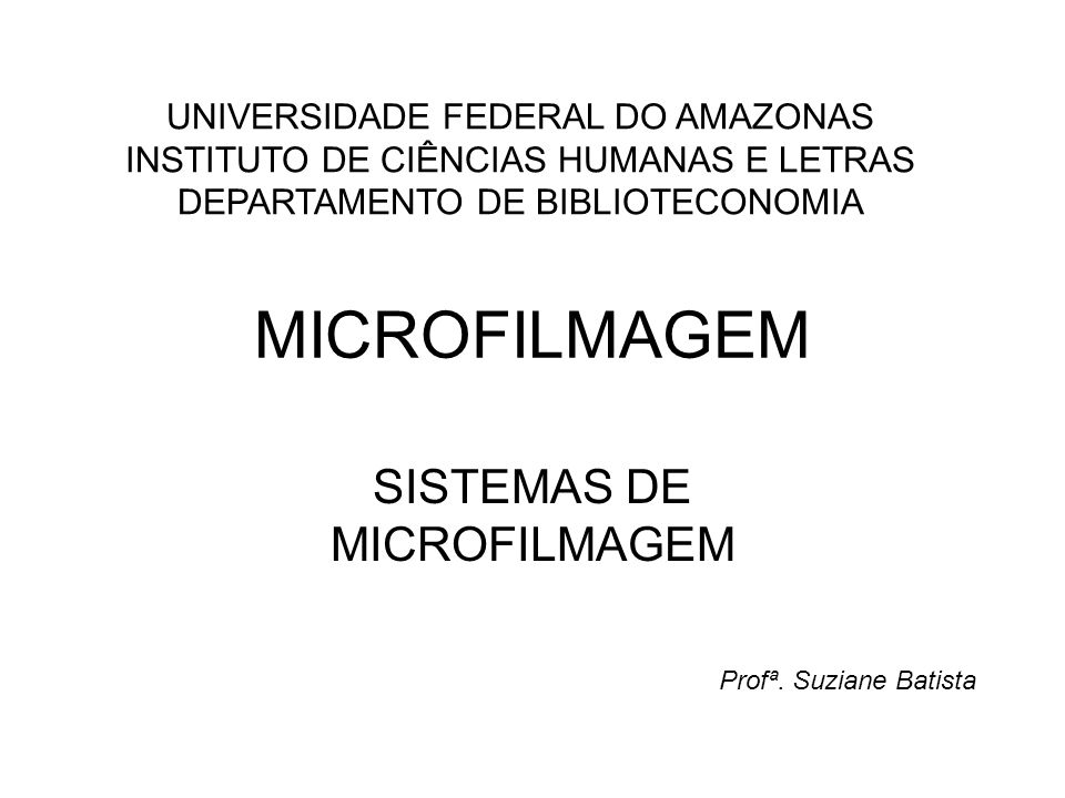 SISTEMAS DE MICROFILMAGEM