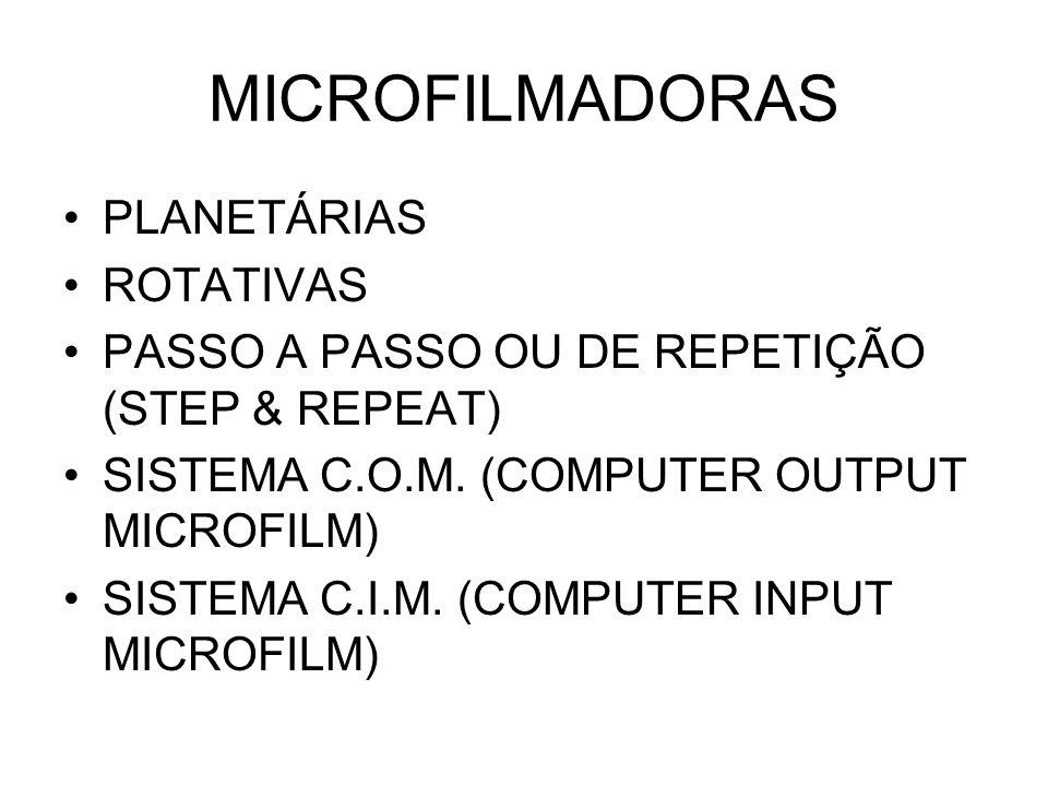 MICROFILMADORAS PLANETÁRIAS ROTATIVAS