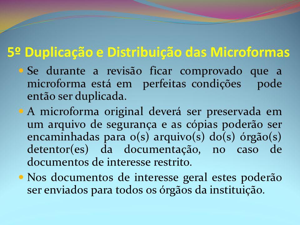 5º Duplicação e Distribuição das Microformas