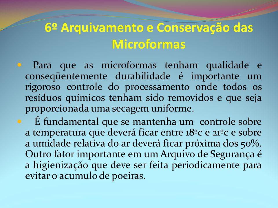 6º Arquivamento e Conservação das Microformas