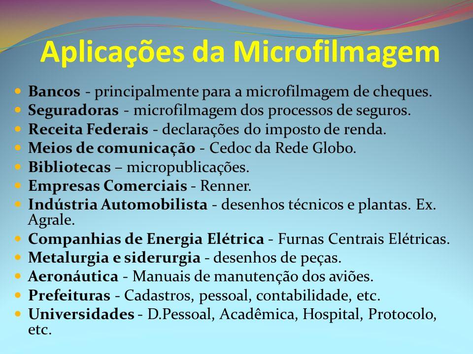 Aplicações da Microfilmagem